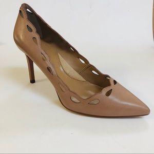 Banana Republic leather cut out trim heels